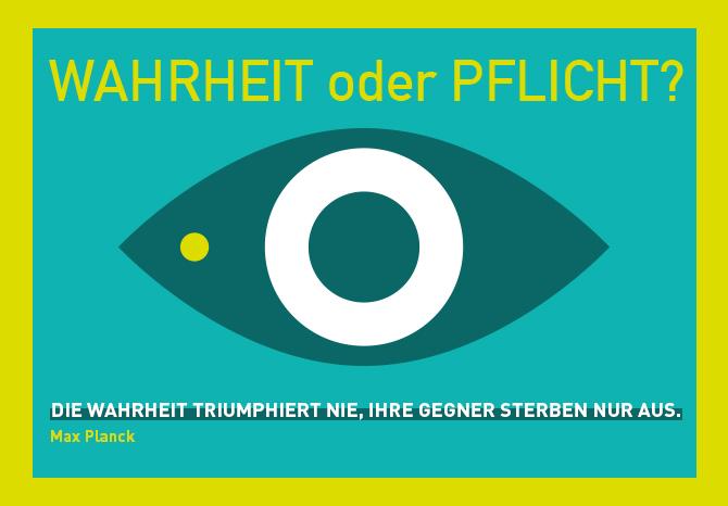 """Visual zum Webmontag Frankfurt 60 in der Brotfabrik Frankfurt zum Thema """"Wahrheit oder Pflicht"""""""